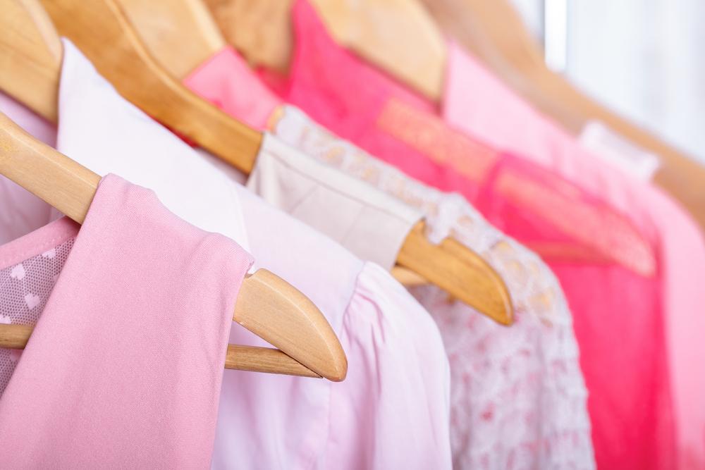 ピンクの洋服
