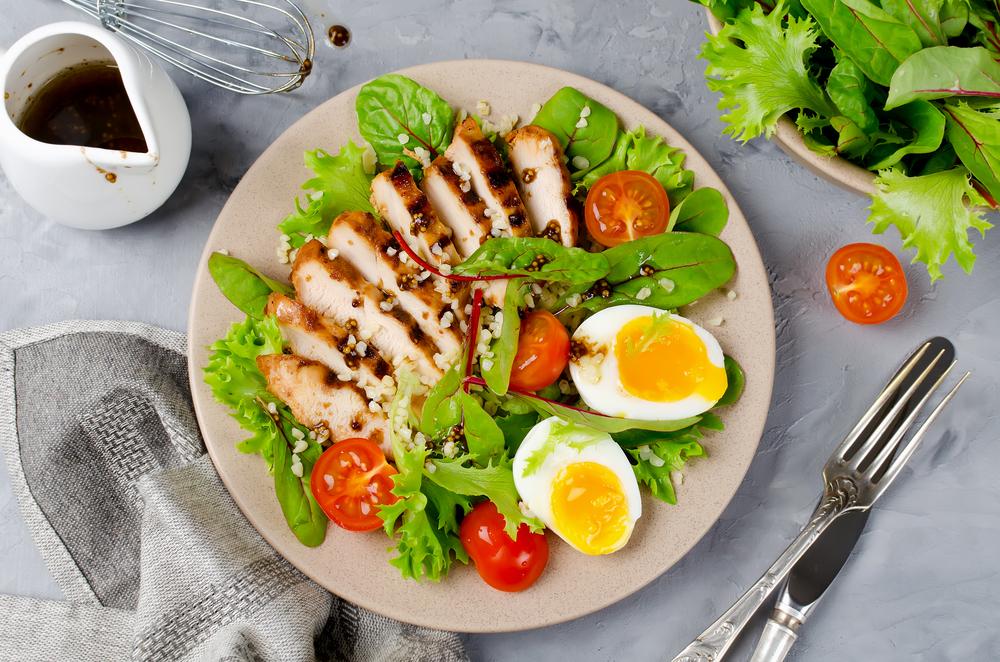 タンパク質と野菜