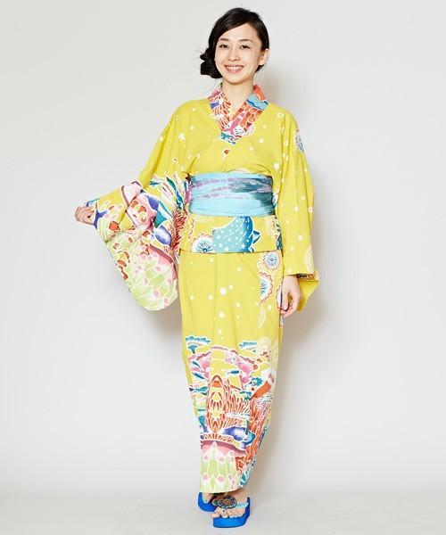 【チャイハネ】沖縄紅型風ユートピアセパレート浴衣