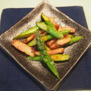 アスパラとベーコンのカレー炒めのレシピ
