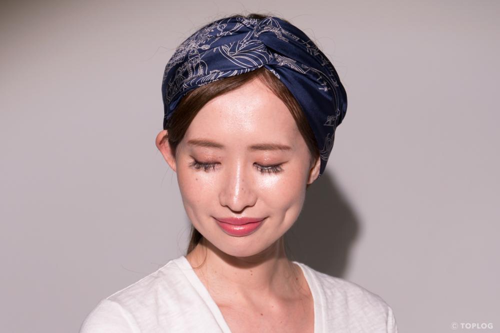 スカーフのヘアバンドづかい STEP07