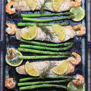 サーモンのオーブン焼きのレシピ