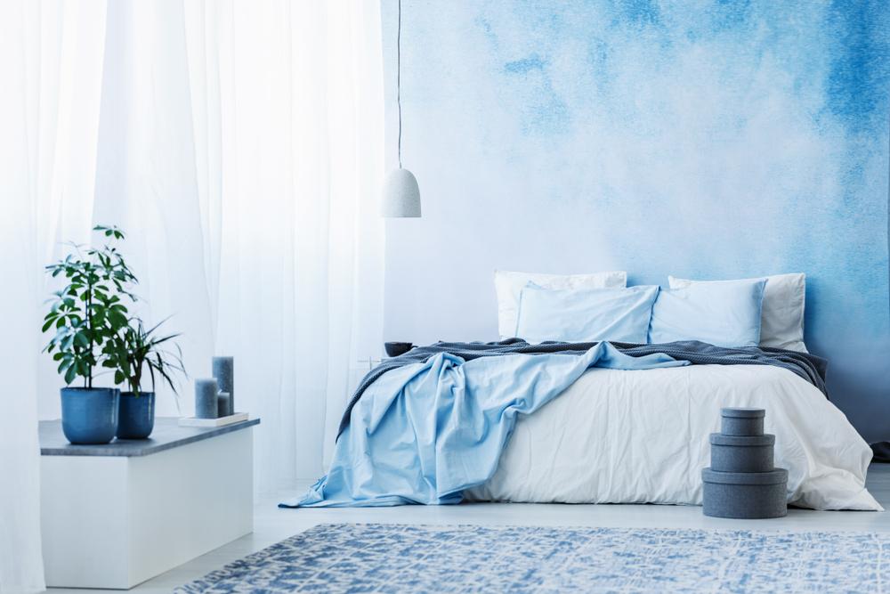 ブルーの寝室