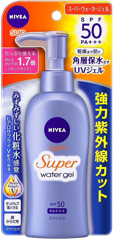 NIVEA:プロテクトウォータージェル SPF50/PA+++ ポンプ 140g