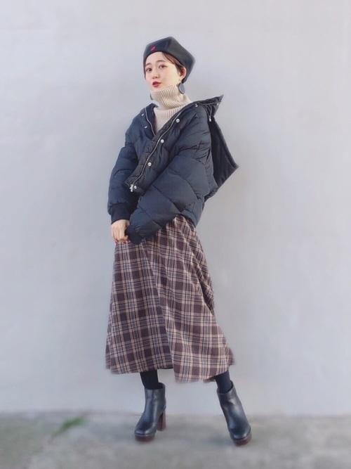 ダウンジャケットを使った名古屋の服装