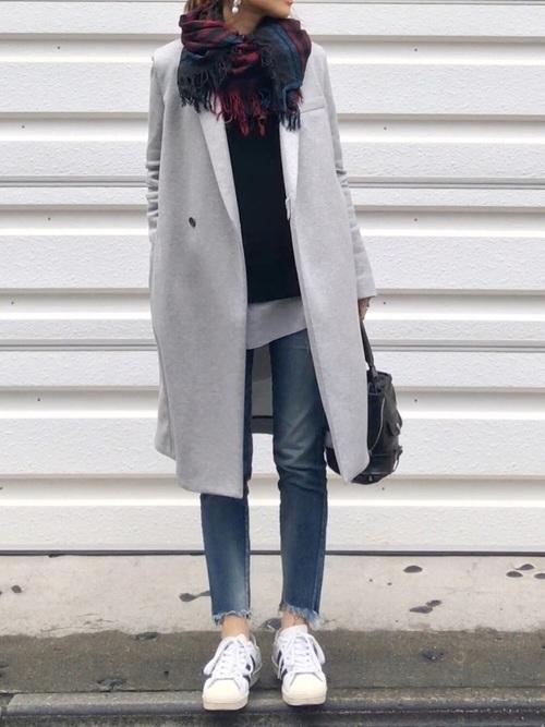 チェスターコートを使った名古屋の服装