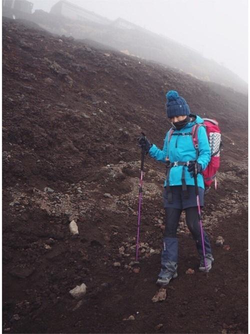 冬の富士山登山の写真
