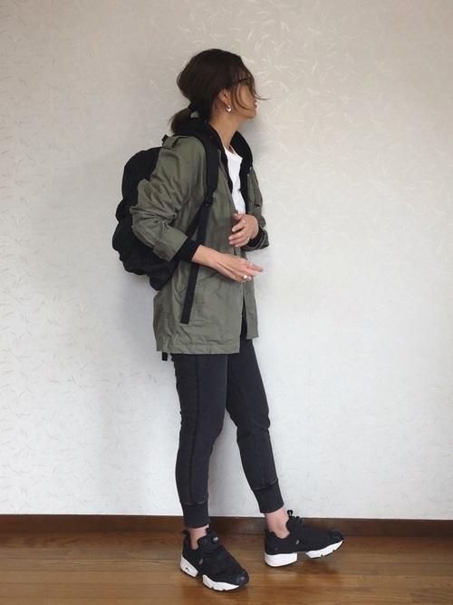 スウェットデニム×ミリタリージャケット