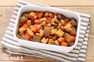 お豆と根菜の煮物レシピ
