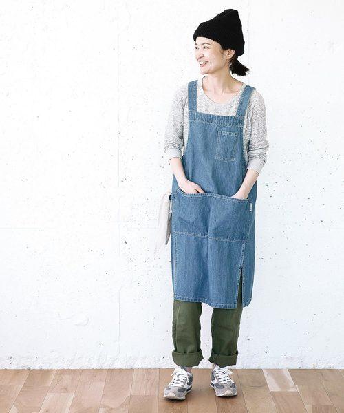 ガーデニングファッションにおすすめのデニムエプロン