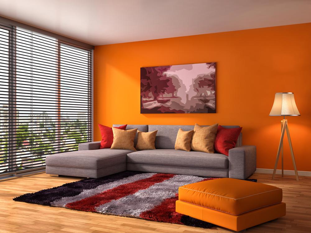 オレンジを取り入れた部屋