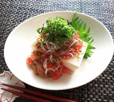 黒酢トマト納豆奴のレシピ