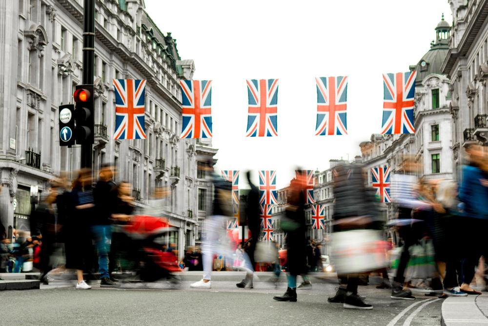 ロンドンのショッピングストリート