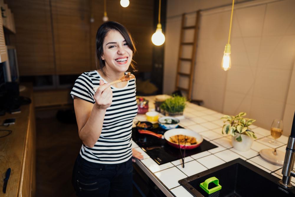 カレーダイエットをしている女性