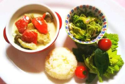 低糖質&低脂質☆グリーンカレーのレシピ