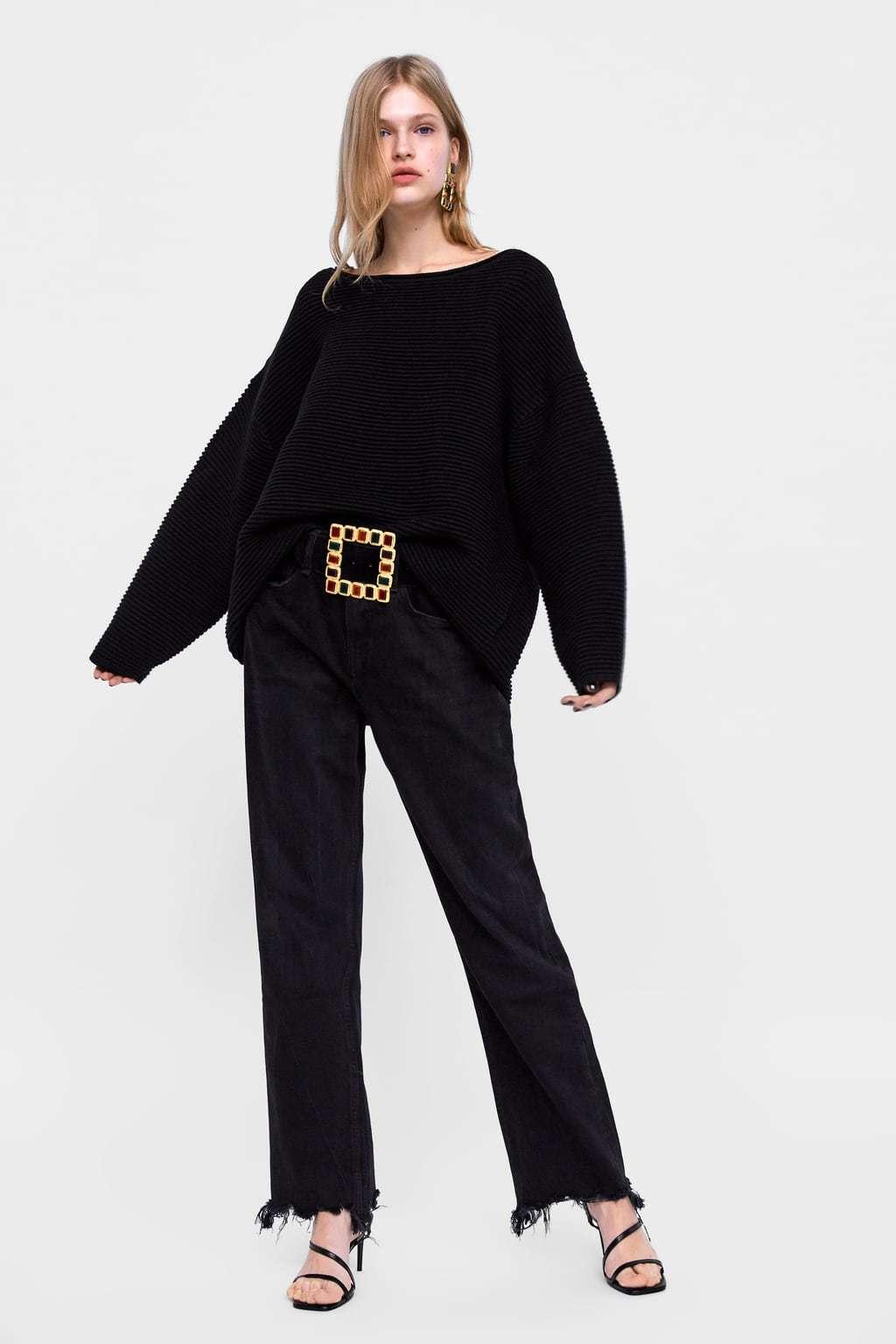 テクスチャー編みセーター