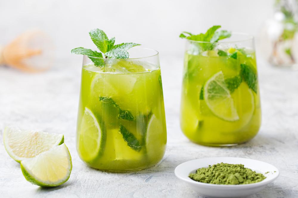 緑茶レモン水