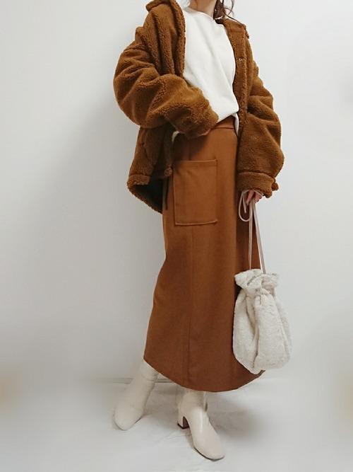 3coinsのバッグの冬コーデ
