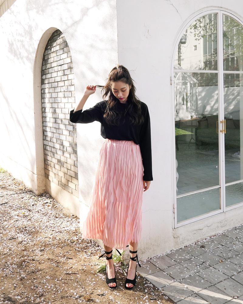 サーモンピンクスカート