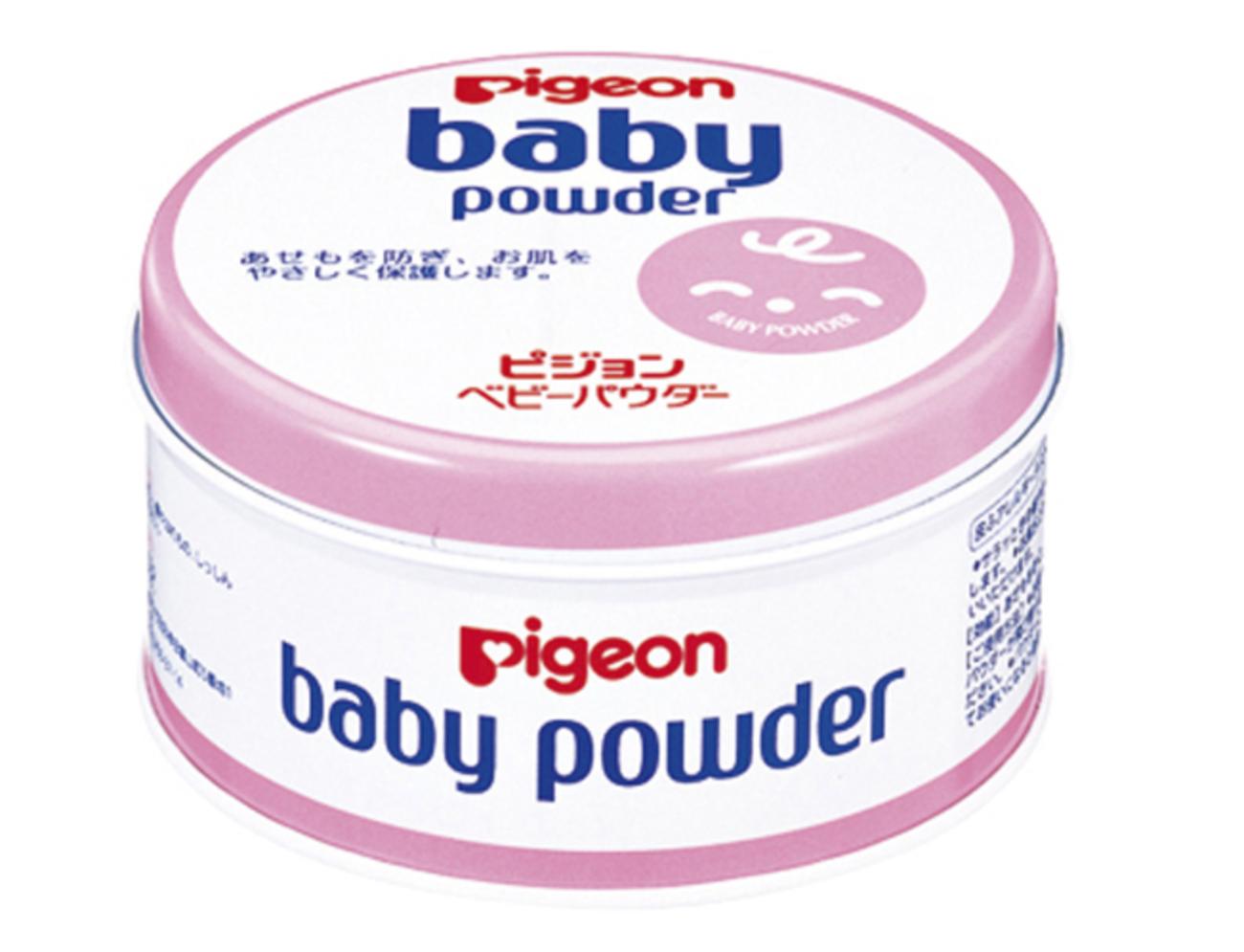 ピジョン ベビーパウダー ピンク缶