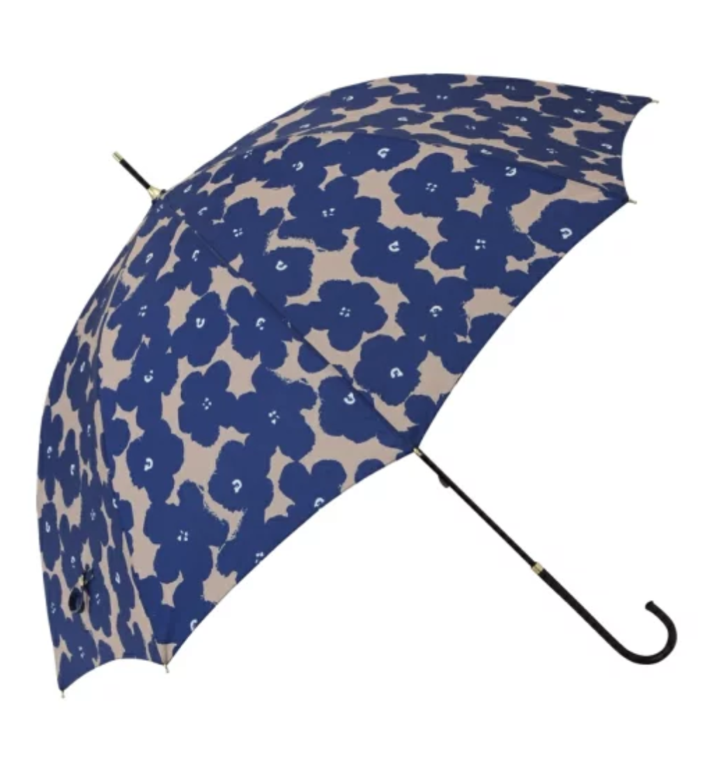 Francfranc(フランフラン) ハナプリント 長傘 ネイビー(晴雨兼用)