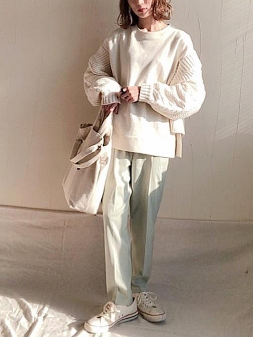 着まわしアイテムを使った女子大学生におすすめのコーデ