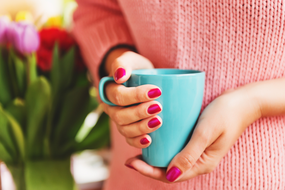 抹茶ダイエットをしている女性