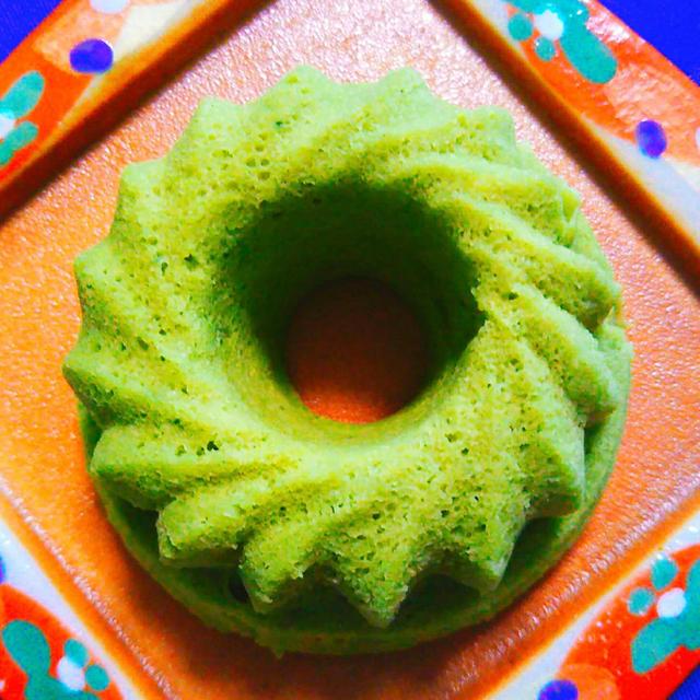 ▶低糖質!おから蒸しケーキ(抹茶のレシピ