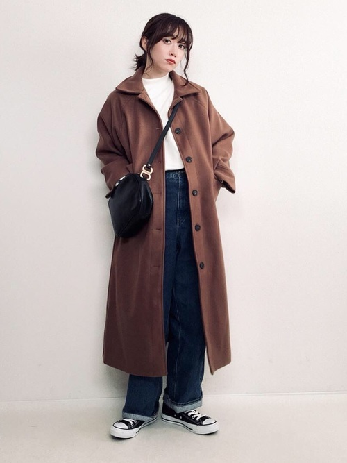 ロングコートを使った鎌倉の服装