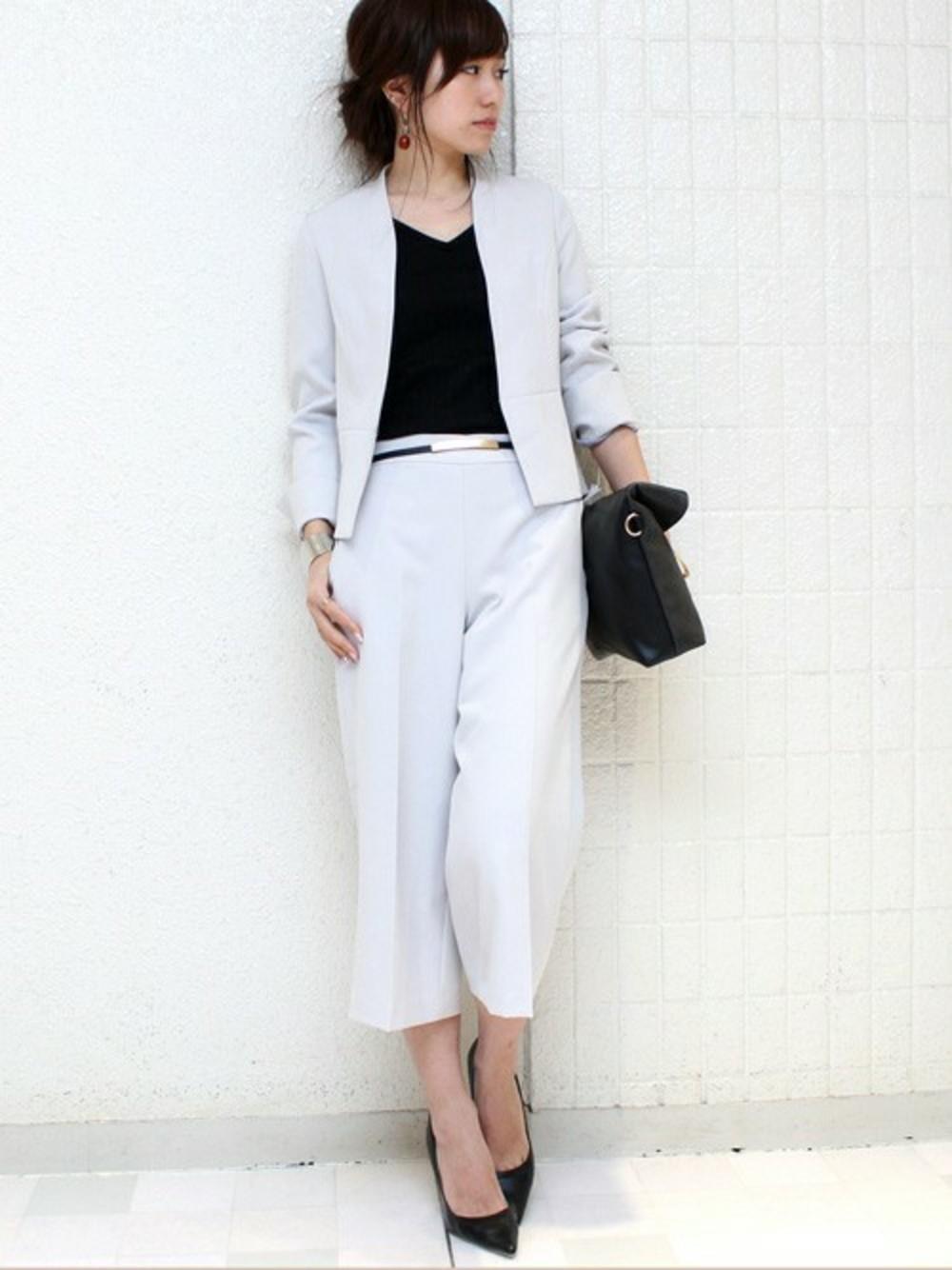 研修用白スーツセットアップ