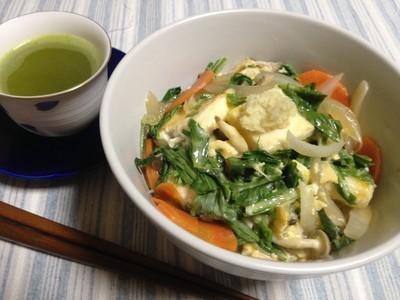 低カロリー一人前盛りっと焼き豆腐丼のレシピ