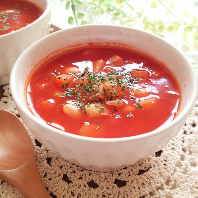 大豆のトマトスープ
