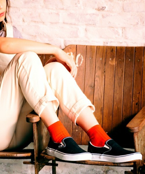 スリッポンと靴下