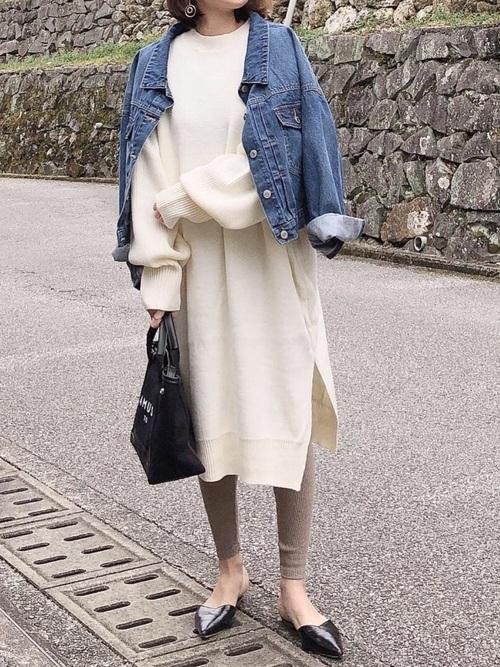 デニムジャケットを使ったポルトガルの服装