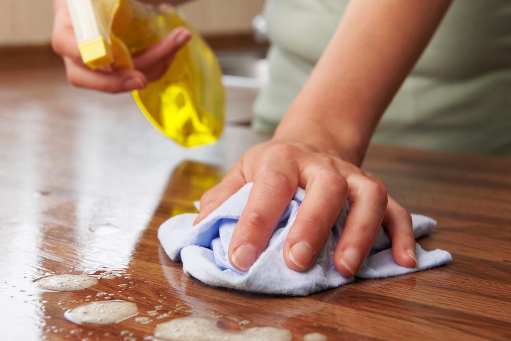 酢水を使った拭き掃除