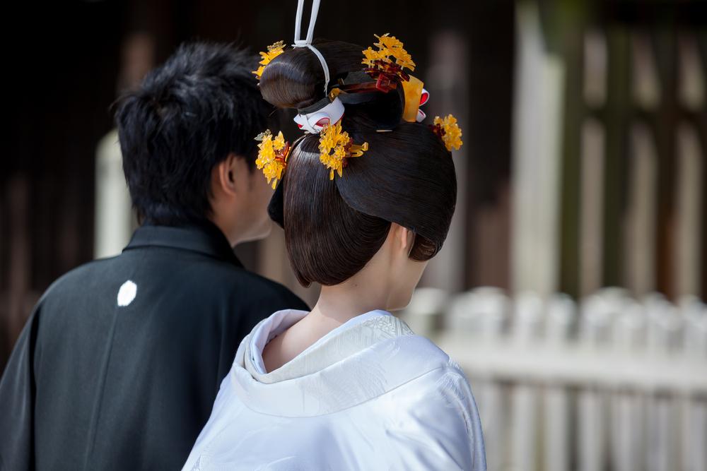 白無垢での和装婚