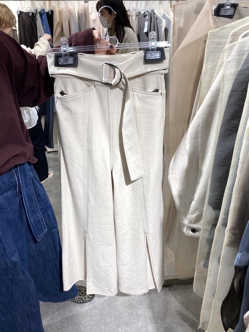 FRONT LONG SLIT PANTS