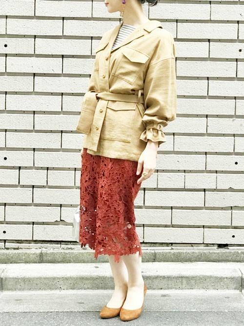 秋のミリタリージャケットコーデ