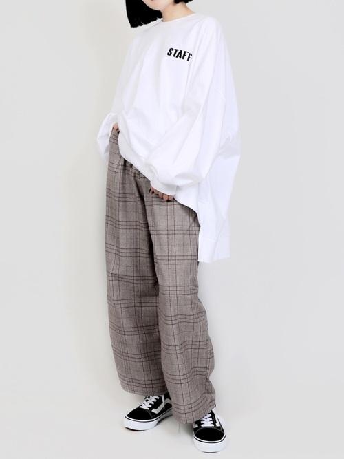 グレンチェックパンツを使ったジェンダーレスファッション