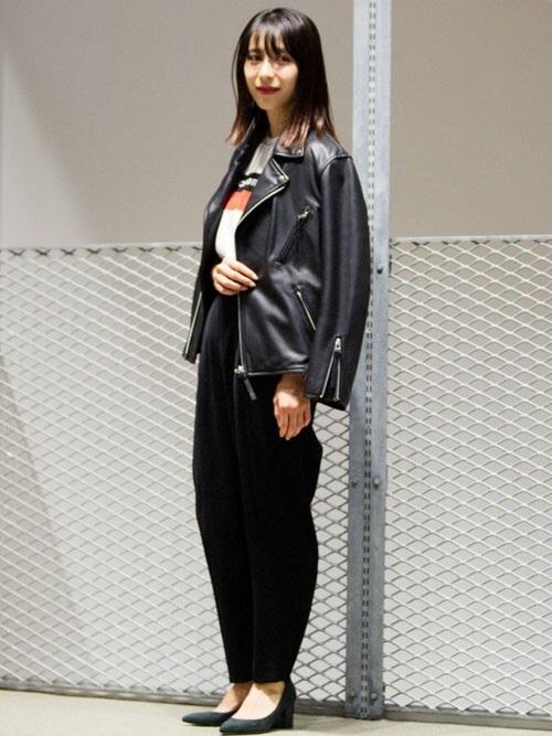 ライダースジャケットを使ったジェンダーレスファッション