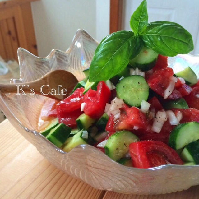トマトときゅうりのチョップドサラダ