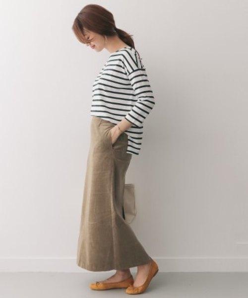 コーデュロイマキシストレートスカート