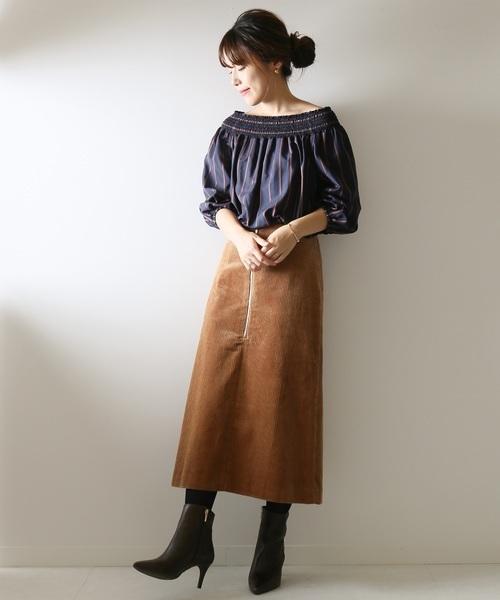 フトコール フロントZIPスカート◆