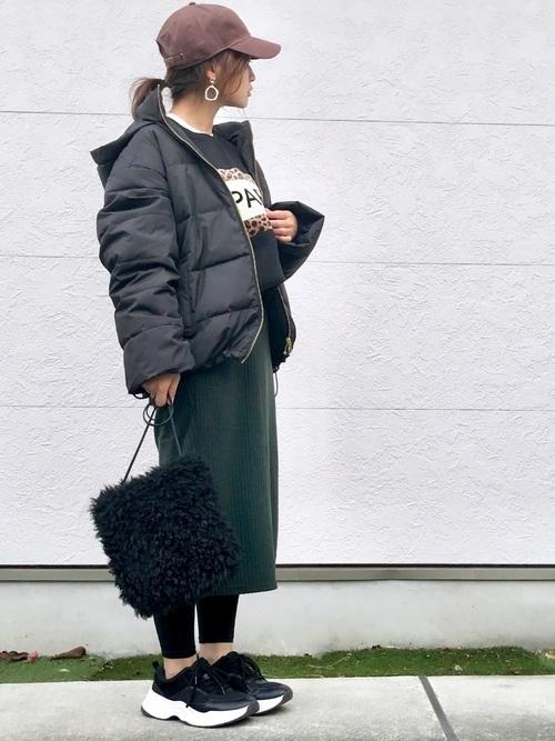 GUのニットスカートの冬コーデ