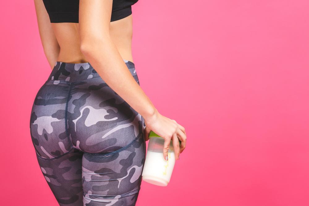 プロテインダイエットをしている女性