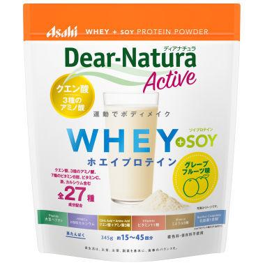 Dear-Natura ディアナチュラアクティブ ホエイ+ソイプロテイン グレープフルーツ味