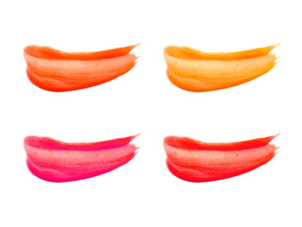 色々なカラーのリップグロス