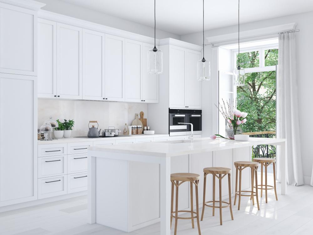 ホワイトのキッチン