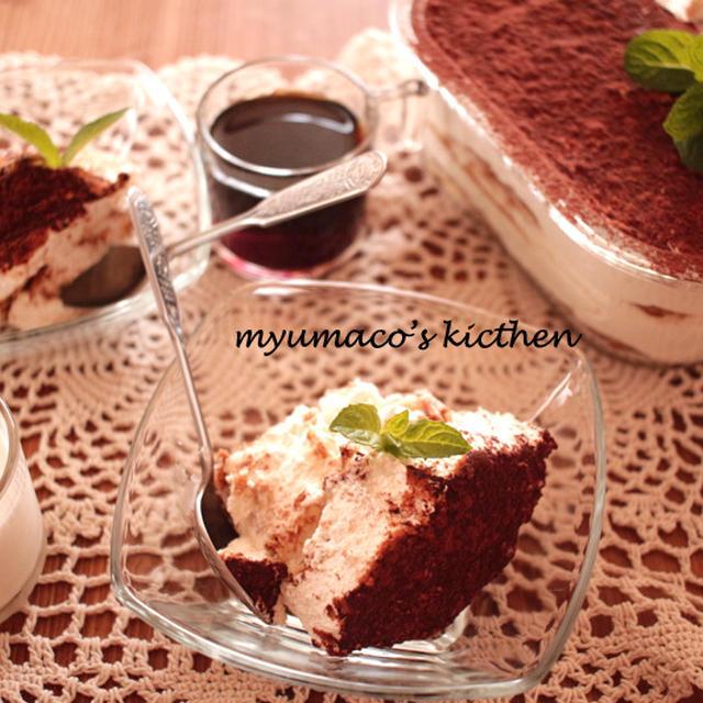 ティラミス風スコップケーキのレシピ