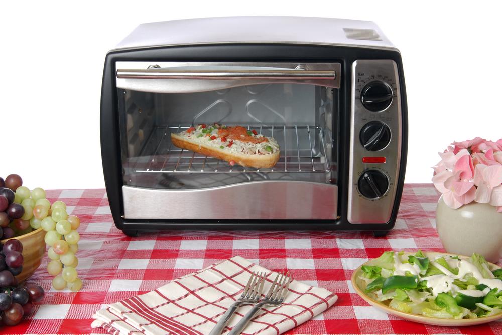 きれいに掃除されたオーブントースター
